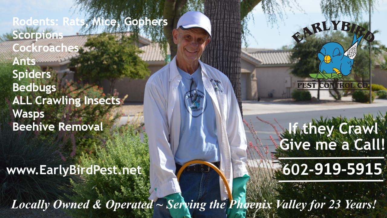 Early Bird pest control exterminator Cave Creek Arizona
